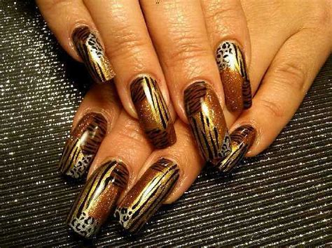 tiger pattern nail art stylish animal print nail art designs trends