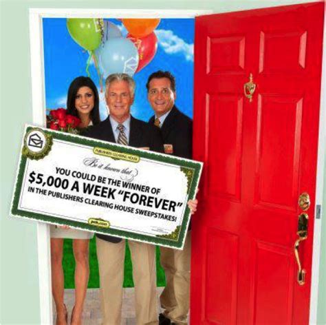 Sweepstakes Clearinghouse - what would you do with 5000 a week for life pchforeverprize sponsored the