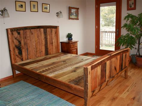 country bed frames cozy country bedframe from wormy chestnut and reclaimed oak