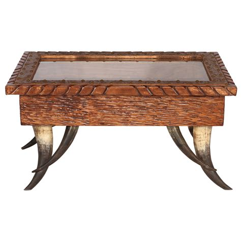 horn collection shadow box coffee table large