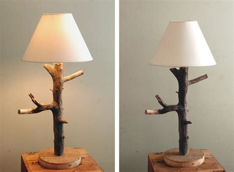 diy branch table lamp  merrythought