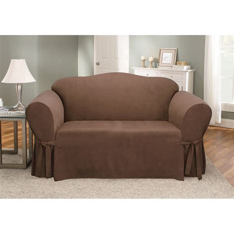 walmart sure fit sofa covers sure fit soft suede loveseat cover walmart com
