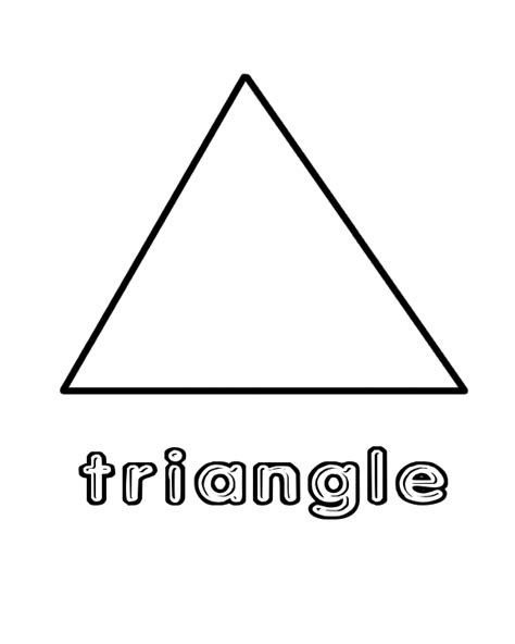triangle printable worksheets for preschoolers free coloring pages of tracing triangle