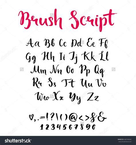 Brush Script 25 beste idee 235 n brush script op