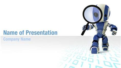 robotics themes for powerpoint robot model powerpoint templates robot model powerpoint