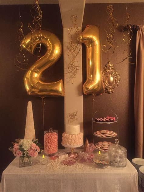 Pink and Gold 21st Birthday Celebration!   Balloon