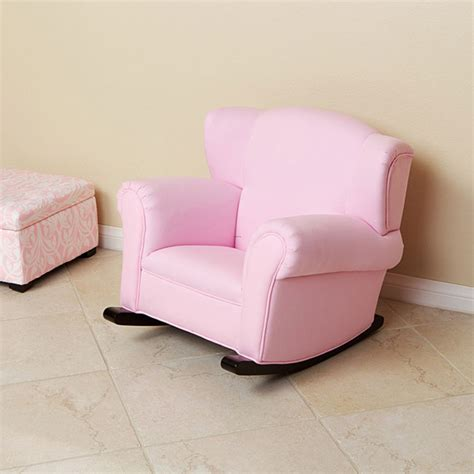 childs recliners child s pink fabric rocking chair design bookmark 8115
