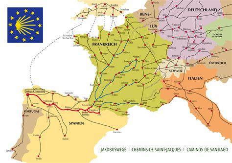 camino way map camino de santiago