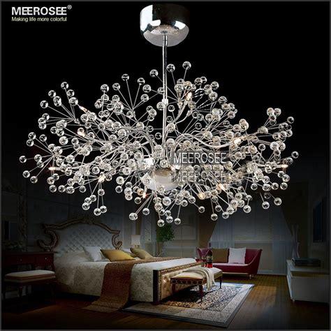 Glass Balls Chandelier Salon Fleur Forme Boules Lustre Lampe Plafonnier Lustre En