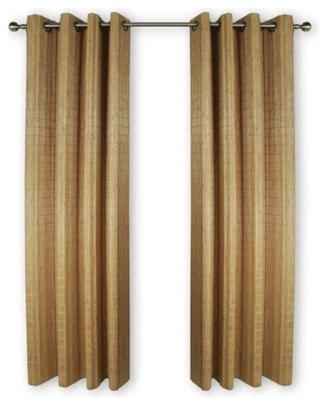 Wood Panel Curtains Versailles 42 Quot Bamboo Wood Curtain Panel With Grommets Curtains By Homesquare