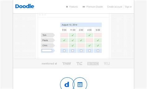 doodle link calendar top 15 appointment scheduling software