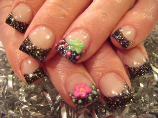 pedicure colors to the stars star spangled acrylic nails nails acrylic