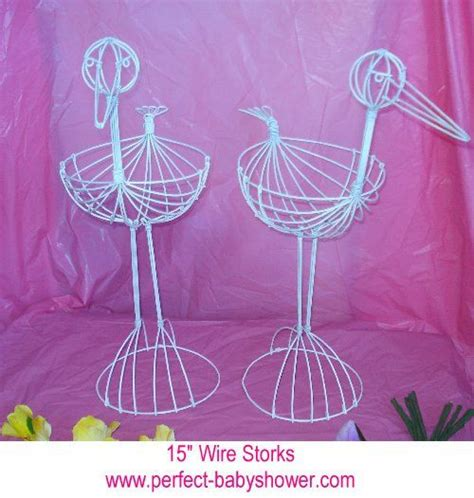 Baby Shower Wire by Wire Stork For Baby Shower Table Centerpiece Set Of 2