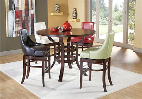 Room To Go Dining Sets by Alder Chocolate 7 Pc Pub Height Dining Set Dining Room