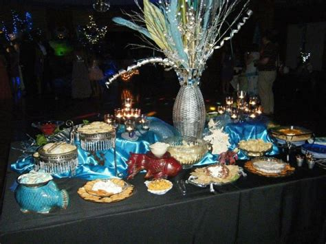 themed prom decorations the sea themed prom snack table decorated