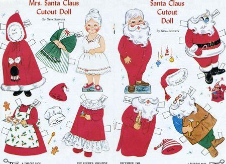 free printable christmas paper toys christmas paper dolls and other paper toys