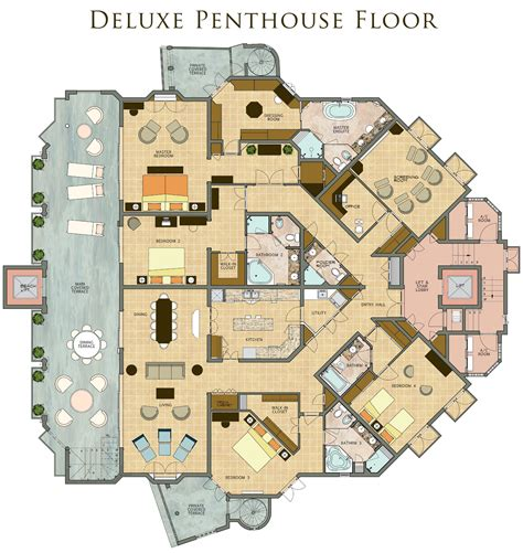 luxury penthouse floor plans saint peter s bay penthouse deluxe penthouse home