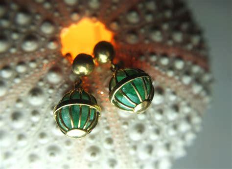 antique emerald cage earrings singapore island jewellery