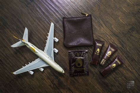 On Sale Travel Kit Bussinis Class Luxe Edition Abu Dhabi Etihad etihad airways class amenity kits by christian lacroix