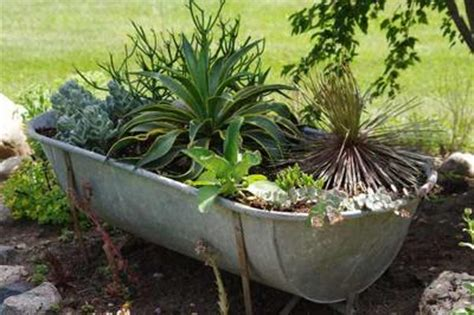 rustic galvanized tub