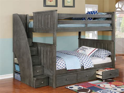 bedroom appealing twin bunk beds  stairs  kids