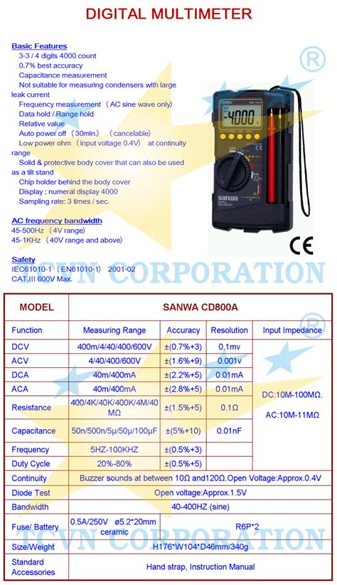 Digital Multimeter Cd800a multimeter sanwa cd800a images