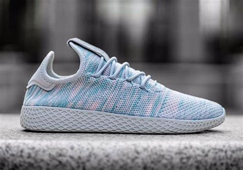 pharrell x adidas human race white blue sneakernews