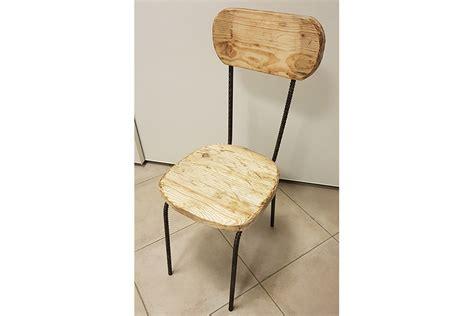 sedie di ferro sedia in legno di recupero e tondini di ferro xt sed003