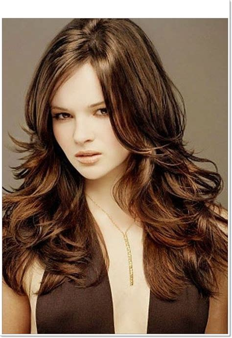 hairstyle layered hairstyles long layered haircuts for round faces thick hair best