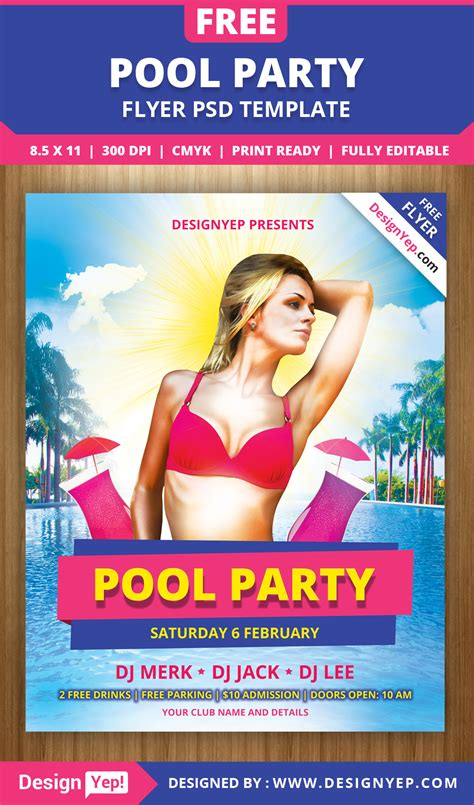 free pool flyer templates free pool flyer psd template 8572 desingyep free flyers flyer psd