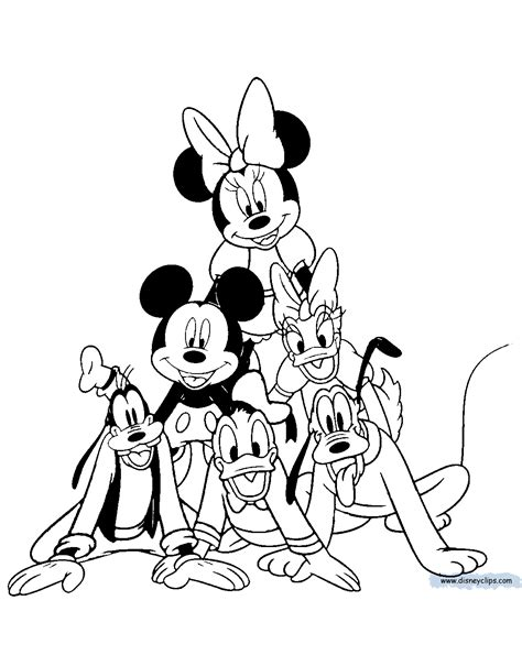 mickey mouse friends coloring pages 4 disney coloring book