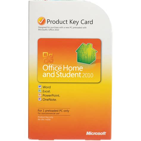 microsoft office home and student 2010 software product