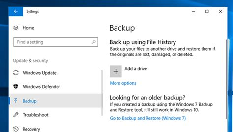 windows 10 where is the file history backup going super user
