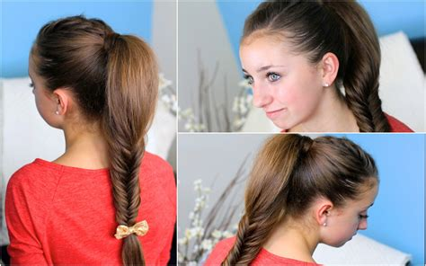 how to do a cheer puffy ponytail hairstyle how to make a fluffy fishtail braid zendaya s replay