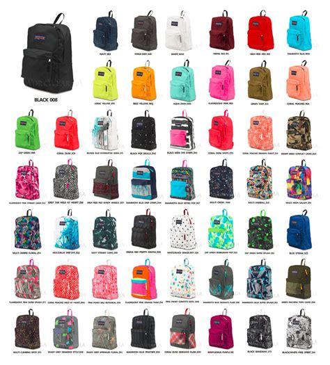 All Jansport all colors of jansport backpacks backpack tools