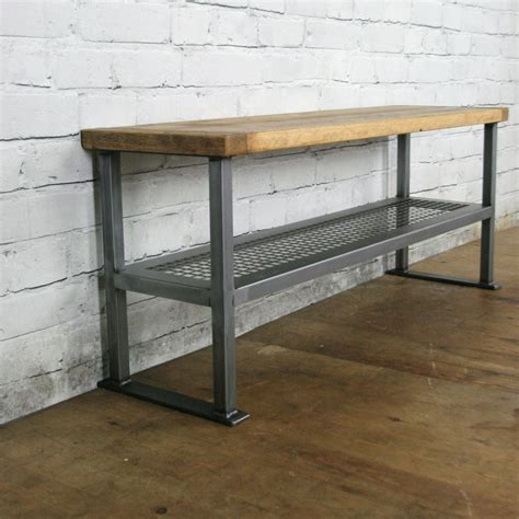 hallway shoe bench industrial rustic hallway shoe storage rack bench made to