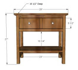 Nightstand Dimensions Standard Galleryhip Com The
