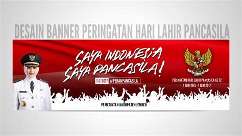 tutorial desain banner banner peringatan hari lahir pancasila 173 tutorial banner