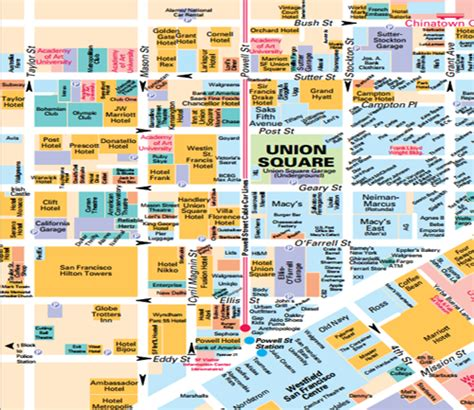 san francisco downtown map union square get to san francisco coldwell banker