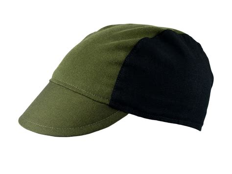 Handmade Cycling Caps - olive black cotton cycling cap handmade cap bike cap