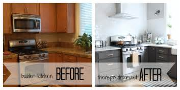 Painted black kitchen cabinets before and after kitchen cabinet colors