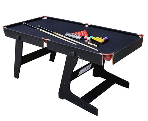 Folding Pool Table 8ft Folding Professional Snooker Table Pool Billiard Set With Cue Accessories