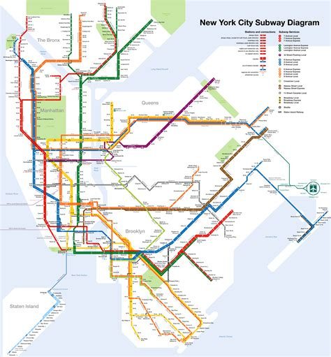 ny city subway map new york map pdf images