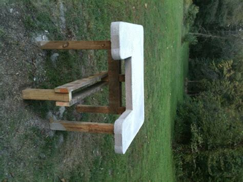 concrete shooting bench plans concrete shooting bench plans image mag