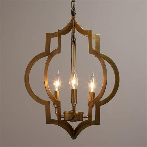 what is a pendant light gold quatrefoil 3 light pendant l alternative
