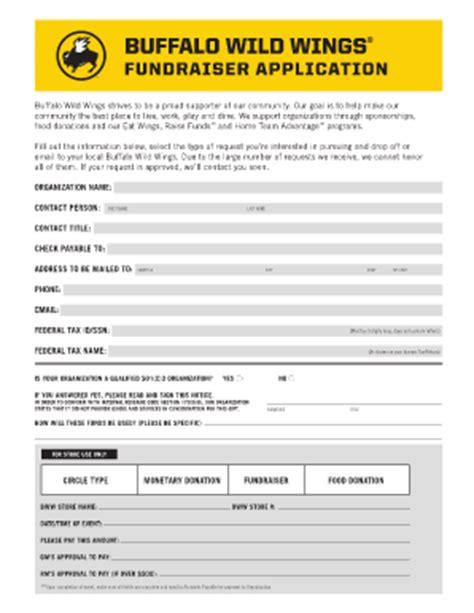 Buffalo Wings Application Process Fundraising Application Fill Printable Fillable