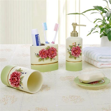 resin bathroom set 5pcs set bathroom accessories home
