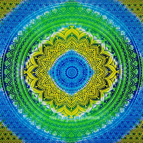 colorful tapestry multi colorful tie dye rainbow ombre mandala tapestry