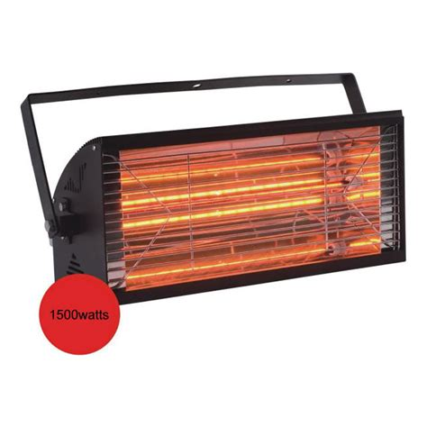 Waterproof Electric Patio Heaters 2kw Quartz Free Radiant Patio Heater