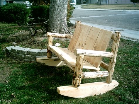 rustic log benches outdoor outdoor furniture